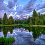 Alpenglow in the Tetons from Schwabacher Landing