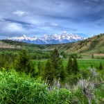 The Grand Tetons from the Gros Ventre Valley
