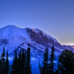 Sunset at Mount Rainier from Sunrise