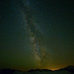 Milky Way from Sunrise Point - Glow is Lights from Portland