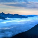A Marine Layer of Clouds Viewed from Sunrise Point